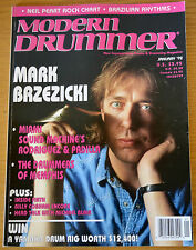 Modern Drummer Magazine January 1992 Mark Brzezicki