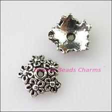 20Pcs Tibetan Silver Flower Star End Bead Caps Connectors 11mm