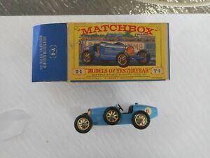 Matchbox Yesteryear Y6 Bugatti (blue)