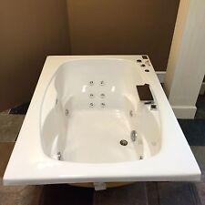 "Carver Tubs AR6042 60"" x 42"" White 12 Jetted Whirlpool Bathtub w/ Heater & Light"