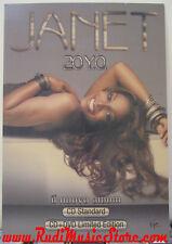 RARO CARTONATO janet JACKSON 20 Y.O. PROMO poster cartellone No cd dvd lp
