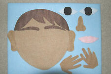 """""""5 Senses"""" Children story felt/ flannel board set"""