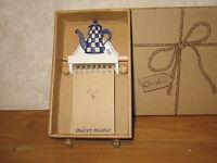 ORVAL *NEW* Mémo Cafetière bleue 20x11cm
