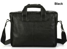 New Men's Real Leather Briefcase Handbag Tote Attache Cases Shoulder Laptop Bag