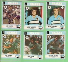 1977 SCANLENS RUGBY LEAGUE TEAM CARDS  -  CRONULLA SUTHERLAND SHARKS