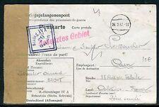 France - Carte d ' un prisonnier du Stalag IV A de Hohnstein pour Falaise 1942