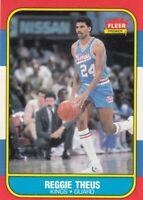 1986-87 Fleer Basketball Reggie Theus# 108 Sacramento Kings