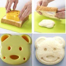 DIY Teddy Bear Shape Sandwich Bread Cake Rice Cookie Mold Maker Cutter Tool UK