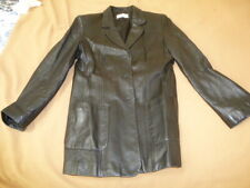 Womens Black soft leather 100% jacket PETITE size 12 by Precis Petite