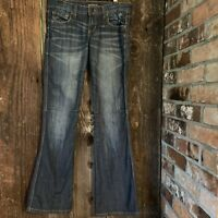 UNDERGROUND SOUL WOMEN'S JEANS FLARE BLUE SIZE 5 Distressed