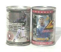 2 VTG 1997 PINNACLE/ 1999 upper deck Ken Griffey jr. CARDS in a can SEALED NIP