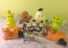 Shrek Figurines Lot Baby Puss N Boots Humpty Dumpty Donkey Pigs Gingerbread Toy