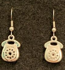 TELEPHONE Earrings Stainless Hook New Rotary Retro Operator Communication