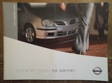 NISSAN ALMERA TINO orig 2003 UK Mkt Prestige Sales Brochure