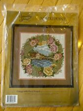 """Something Special Needlepoint Kit Cottage with Floral Wreath 14"""" x 14"""" Complete"""