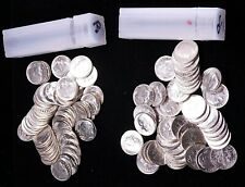 1946-1964 Roosevelt Silver Dime roll BU 50 coins Blast White Great Luster #GC804