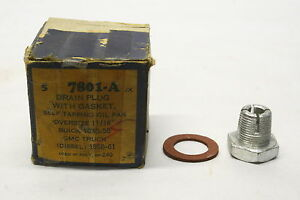 """NOS Replacement Oil Pan Drain Plug Oversize 11/16"""" 1940-58 Buick 1958-61 GMC"""