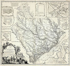 1773 Map the Province of South Carolina Wall Art Poster Decor Vintage History
