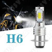 2X P15D H6M LED Motorrad Scheinwerfer Birne Fernlicht Abblendlich 6000K Weiß 12V