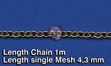 Royal Model 1/35 Metal Chain (G) Single Mesh 4.3mm (Chain Length 1 meter) 522