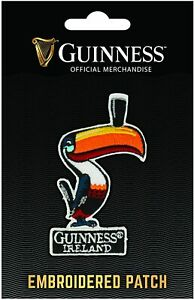 Guinness Toucan iron-on / sew-on cloth patch 60mm x 90mm