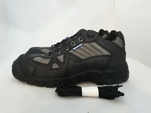 Himalayan Black/Silver Working Safety Shoes Boots 4010 Size 6
