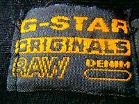 G-STAR Raw 3301 Men's Casual Polo Shirt TOP SZ S BLACK Authentic ORIGINAL DENIM