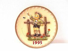 """Vintage Hummel Plate, 25th Annual Plate. """"Come Back Soon"""" (1995)"""
