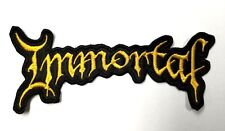 IMMORTAL YELLOW LOGO SHAPED  EMBROIDERED  PATCH