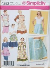 Simplicity Sewing Pattern Apron Pinny Tabbard S-L 10-20 Vintage Style 4282 Uncut