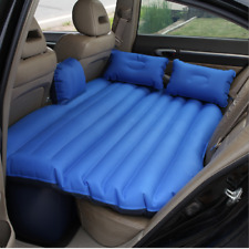 Mobile Inflatable Air Mattress-Blue Car Travel Inflatable Bed Camping Two-Pillow