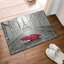Kitchen Bath Bathroom Shower Floor Home Door Mat Rug Eiffel Tower and umbrella