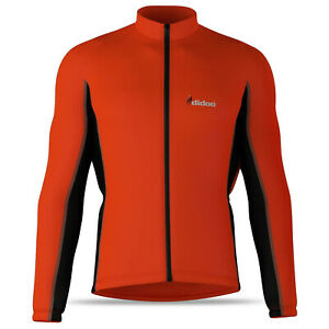 Didoo Mens Thermal Full Sleeve Cycling Jersey Zipper Top Outdoor Sports Shirt