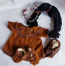 """THT Native American Indian Mother & Baby Outfit Costume for 12"""" Bear/Doll"""