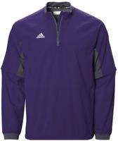NEW Adidas Mens Fielders Choice 1/4 Zip Convertible Jacket Collegiate Purple MED