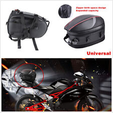 Universal Black PU leather&Carbon Fiber PVC Fabric Motorcycle Scooter Tail Bag*1