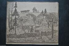 Originaldrucke (1900-1949) aus Europa mit Landschaft und Holzschnitt