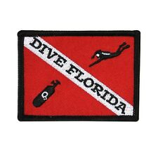 "Scuba Souvenir ""Dive Florida"" Travel Patch Sport & Recreation Iron-On Applique"