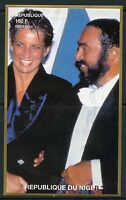 NIGER  1997 PRINCESS DIANA WITH PAVAROTTI  IMPERF SOUVENIR SHEET  MINT NH