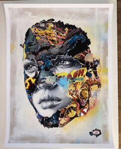Sandra Chevrier La Cage dans un combat electrique Print S/N Giclee Watercolor