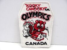Kooky Canooky T.M. Olympics Canada Embroidered Patch