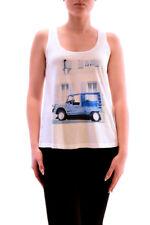 Sundry Women's NBW Car Graphic Sleeveless Crop Tank Top US 1 White RRP £81 BCF73