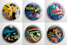 Horror - Monster Movie Poster Pin Back Button Set