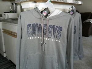 NEW Dallas Cowboys Football NFL Apparel Combine Authentic Hoodie Sweatshirt LG