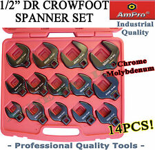 """1/2"""" CROW FOOT SPANNER SET WRENCH QUALITY AMPRO TOOLS METRIC UP TO 50mm SPECIAL"""