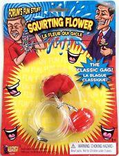 SILK SQUIRTING RED ROSE FLOWER Joke Clown Costume Prank Squirts Water Gag Gift