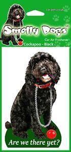 Cockapoo Black Dog - 4 x Car Air Freshener. Great little gift idea.