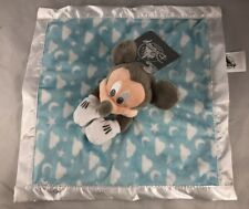 "Disney Parks Mickey Mouse Blue Layette Baby Blanket 11"" Plush - NEW"