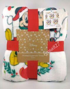 Disney Mickey Mouse & Minnie Mouse Christmas Soft Fleece Throw Blanket 120x150cm