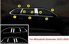 18PCS For Mitsubishi Outlander 2013-2020 Windows Strip Cover Pillar Posts trim